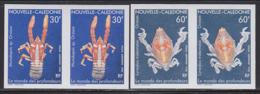 NEW CALEDONIA (1990) Crustaceans. Set Of 2 Imperforate Pairs. Scott Nos C220-1, Yvert Nos PA271-2 - Ongetande, Proeven & Plaatfouten
