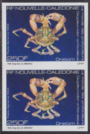 NEW CALEDONIA (1993) Deep Sea Spider Crab (Oxypleuridon Oculatus). Imperforate Pair. Scott No C254, Yvert No PA307. - Ongetande, Proeven & Plaatfouten