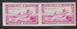 MONACO (1949) Whaling Vessel. Imperforate Pair. Scott No 243, Yvert No 330. - Otros