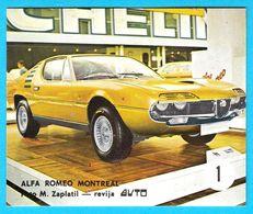 ALFA ROMEO MONTREAL - Yugoslav Vintage Card * Used In A Album * Car Automobile Automobil Italy Italia - Stickers