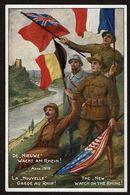 1919 - La Nouvelle Garde Au Rhin ! De Nieuwe Wacht Am Rhein ! The New Watch On The Rhine ! Edit. W. Den Boer Bussum - Guerre 1914-18
