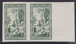 MONACO (1949) Cactus Garden. Imperforate Pair. Scott No 238, Yvert No 325. - Sonstige