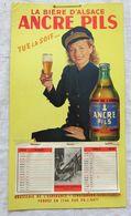 Rare Calendrier Année 1952 Avec Pub Pour Bière Ancre Pils Brasserie De L'Espérance Strasbourg - Affiches