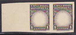 HONDURAS (1945) Mother & Child. Proof PAIR Missing Impression Of Vignette On Card. Scott No RA3, Yvert No TB2. - Honduras