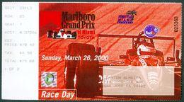 CART RACING - HOMESTEAD 2000  - RACE DAY TICKET - Autorennen