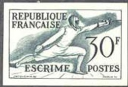 FRANCE (1953) Fencers. Trial Color Proof. Helsinki Olympics. Scott No 702, Yvert No 962. - Proofs