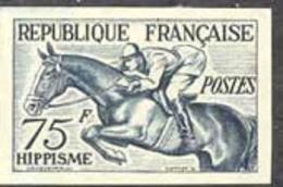 FRANCE (1953) Equestrians. Trial Color Proof. Helsinki Olympics. Scott No 705, Yvert No 965. - Proofs
