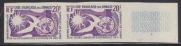SOMALI COAST (1958) Human Rights 10th Anniversary. Imperforate Pair. Scott No 274, Yvert 291. - French Somali Coast (1894-1967)