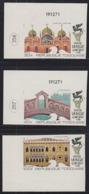 TOGO (1972) Campaign To Save Venice. Set Of 3 Imperforates.  Scott Nos 802-3,C171. Yvert Nos 735-6,PA173. - Togo (1960-...)