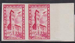 MONACO (1949) Oceanographic Institute-Paris. Imperforate Pair. Scott No C25, Yvert No PA40. - Monaco