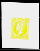 BELGIUM (1865) King Leopold I. Imperforate Essay Of 1c Stamp. - Errors And Oddities