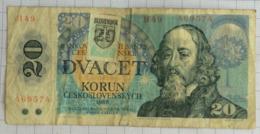 20 Korun. Tchécoslovaquie + Timbre Provisoire Slovènie. 1988. - Cecoslovacchia