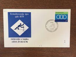YOUGOSLAVIE 1979 CANOE KAYAK - FDC