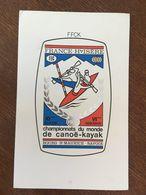 FRANCE 1969 FDC PREMIER JOUR BOURG SAINT MAURICE SAVOIE CHAMPIONNAT DU MONDE DE CANOE-KAYAK NUMEROTE 001377 - FDC