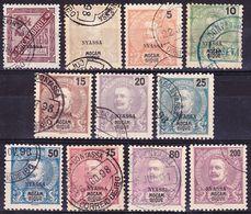 Portugal Nyassa 1898 Lot Carlos I. Definitives Mi 1, 14-22, 25; Afinsa 1, 14-22, 25 Used O - Nyassa