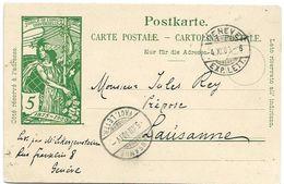 4 - 54 - Entier Postal UPU Avec Cachets à Date Genève Et Lausanne 1900 - Entiers Postaux