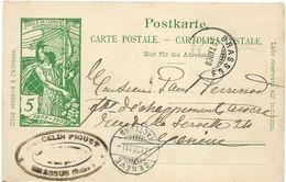 4 - 60 - Entier Postal UPU Avec Cachets à Date Brassus Et Genève 1900 - Entiers Postaux