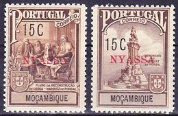 Portugal Nyassa Imposto Postal 1925 Afinsa 2-3, Mi 2-3 MNH ** - Nyassa