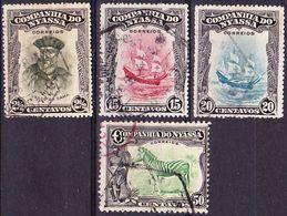 Portugal Nyassa 1921 Lot Of Definitives Afinsa 111, 118-119, 122; Mi 100, 107-108, 111 Used O - Nyassa