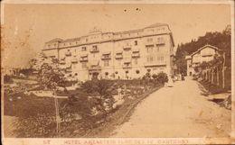 CDV, Suisse, Lac Des Quatres Cantons, Hotel Axenstein     (etat Voir Photos) - Ancianas (antes De 1900)