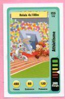 IM468 : Carte Looney Tunes Auchan 2014 / N°056 Athlétisme Relais 4 X 100 M - Trading Cards