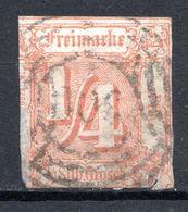 ALLEMAGNE - Tour Et Taxis (Etats Du Nord) - 1859 - N° 7 - 1/4 Silb. Grosch.s. Rouge-orange - Tour Et Taxis