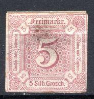 ALLEMAGNE - Tour Et Taxis (Etats Du Nord) - 1859 - N° 12 - 5 Silb. Grosch S. Lilas - Tour Et Taxis