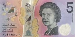 AUSTRALIA 5 DOLLARS 2016 P-NEW UNC [AU230a] - Emissions Gouvernementales Décimales 1966-...