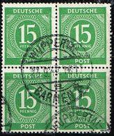 GA 1946,Michel # 922 O Im Virerblock - Amerikaanse, Britse-en Russische Zone