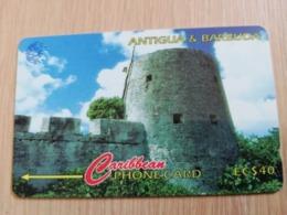 ANTIGUA & BARBUDA $ 40  BARBUDA MARTELLO TOWER           ANT-16A  CONTROL NR: 16CATA      NEW C&W LOGO **2543** - Antigua And Barbuda