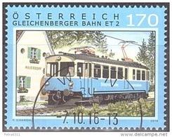 Austria Österreich 2016  Eisenbahnen (XX): Gleichenberger Bahn  USED / O / GESTEMPELT - 2011-... Usati
