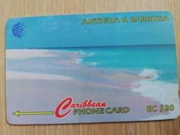 ANTIGUA & BARBUDA $ 20  BARBUDA PINK SAND BEACH          ANT-16B  CONTROL NR: 16CATB      NEW C&W LOGO **2544** - Antigua And Barbuda
