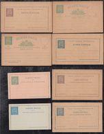 Portugal ANGRA 1892 Collection 8 Postal Stationery ** MNH Carlos I - Angra