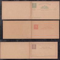 Portugal PONTA DELGADA 1892 3 Postal Stationery Question Reply Postcards ** MNH Carlos I - Ponta Delgada