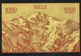 """Billet Scolaire """"Mille Francs"""" Grand Format UNC - Fiktive & Specimen"""