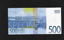 Billet Publicitaire Afibel 500 € Polymer - Specimen