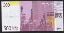Billet Publicitaire Afibel 500 € Papier - Specimen