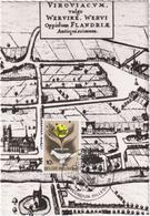 Wervicq - Extrait De Flandria Illustrata De Antoine Sanderus - & Maximum Card - Wervik