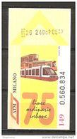 ITALIA - 19790 - Biglietto Tram Autobus MILANO ATM 75° Linee Urbane - Tranvías