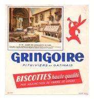 Buvard Gringoire Biscottes Haute Qualité Pithiviers En Gatinais N°90 Musée Des Monuments De Paris - Format : 17.5x19cm - Biscottes