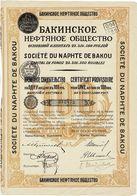 Titre Ancien - Société Du Naphte De Bakou - Titre De 1917 - Russie