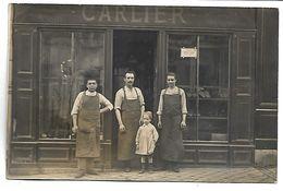 MARCQ EN BAROEUL  - Devanture De MAGASIN - Cordonnier CARLIER - 252 Rue De Quesne - CARTE PHOTO - Marcq En Baroeul