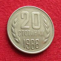 Bulgária 20 Stotinki 1988 KM# 88 Bulgarie Bulgarije Bulgarien - Bulgarien