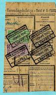 Spoorwegfragment, Afst. CHEMIN DE FER DE CHIMAY / LOMPRET 13/04/1942 - Bahnwesen