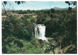 ETHIOPIA - BAHAR DAR-ONE OF THE BLUE NILE FALLS / THEMATIC STAMP-TRAIN / RAILWAYS - Ethiopie