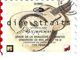 44 - NANTES - T.Beau Ticket D'entrée Du Concert Dire Straits Le 24 Mai1992 Au Stade De La Beaujoire - Pub Philips - Eintrittskarten