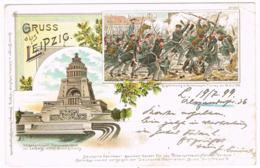 DEUTSCHLAND - Napoleon Völkerschlacht Und Denkmal - Gebraucht – Leipzig - 990 - Greetings From...