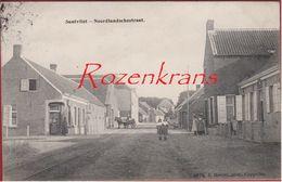 Zandvliet Santvliet Noordlandschestraat Hoelen Cappellen TOPKAART 3975 (ZELDZAAM) Polder Poldergemeente 1911 - Stabroek