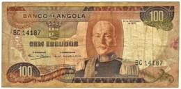 Angola - 100 Escudos - 24.11.1972 - Pick 101 - Série BC - Marechal Carmona - PORTUGAL - Angola