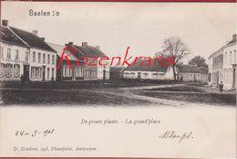 Balen Baelen Kempen De Grote Plaats La Grand' Place 1903 Windmolen Geanimeerd TOPKAART (in Zeer Goede Staat) Hendrix - Balen